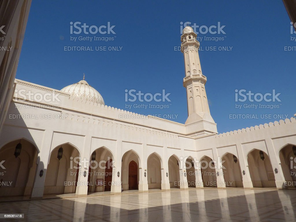 Oman, Salalah, Sultan Qaboos mosque stock photo