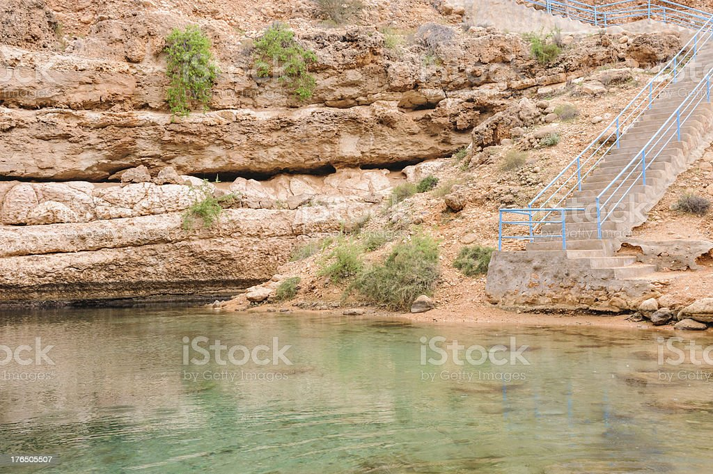 Oman Sinkhole royalty-free stock photo