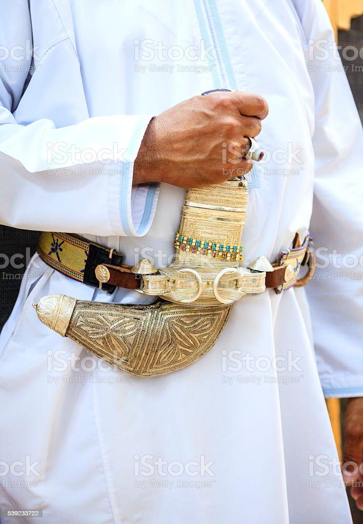 Omani khanjar stock photo