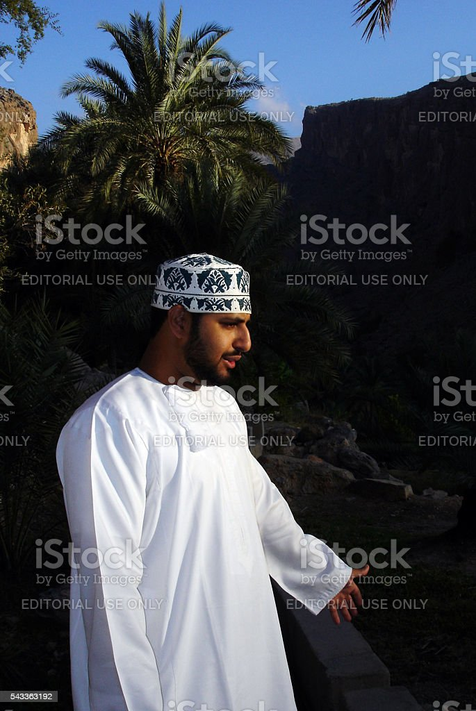 Omani Men's Traditional Dress stock photo