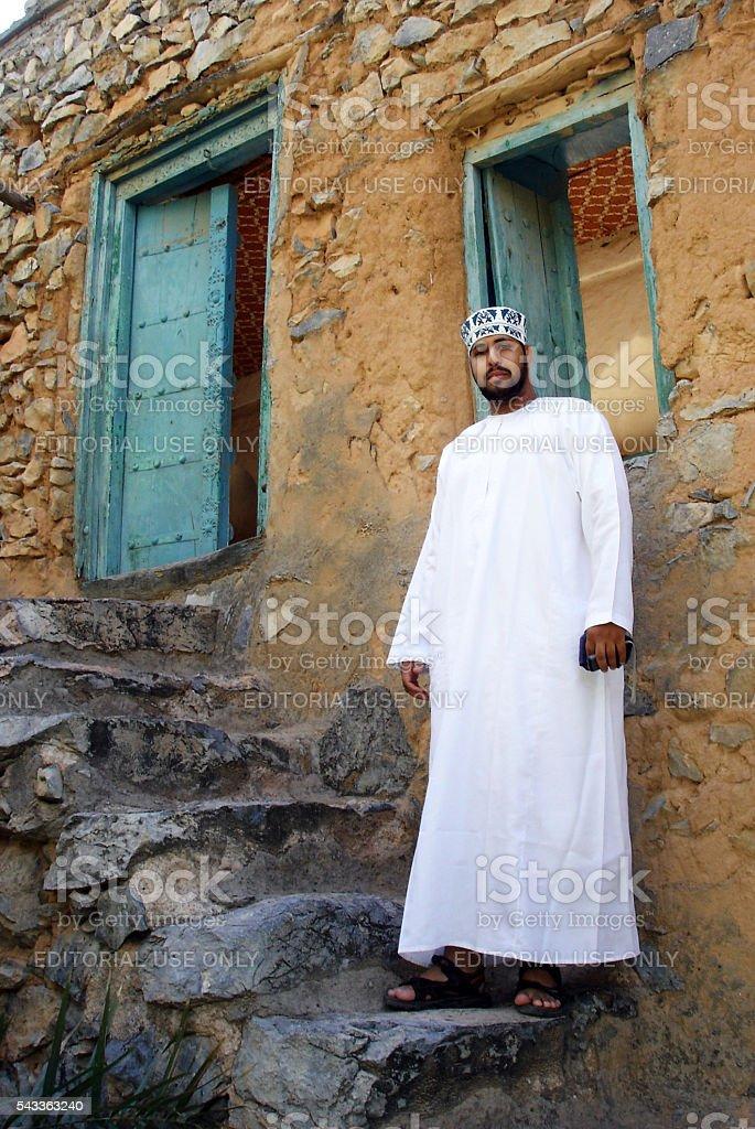 Omani Men's Traditional Dress stock photo