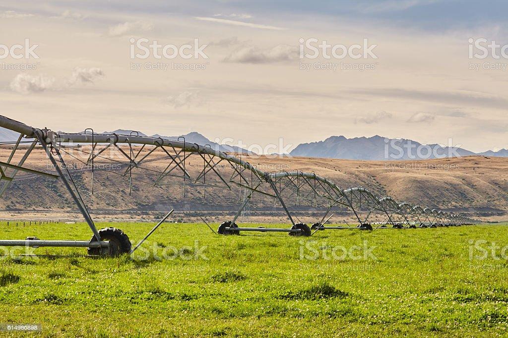 Omarama Bewässerungssystem stock photo
