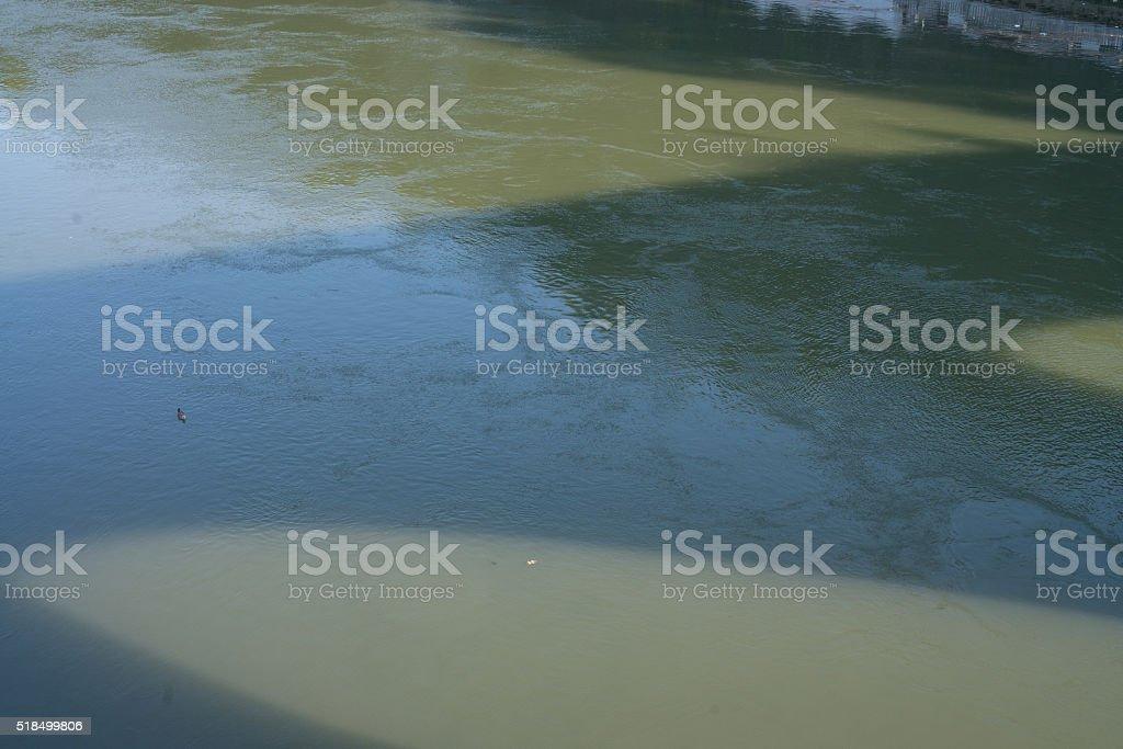Ombra sul Fiume stock photo