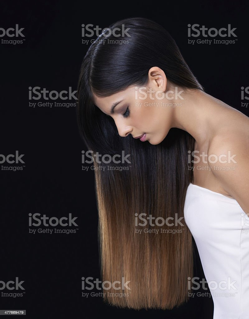 Ombre hair is so trendy! stock photo