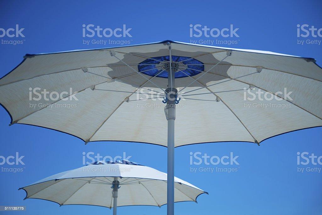 Ombrelloni Riviera Romagnola stock photo