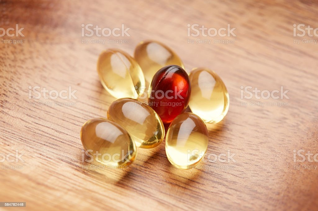 Omega 3 and lecithin stock photo