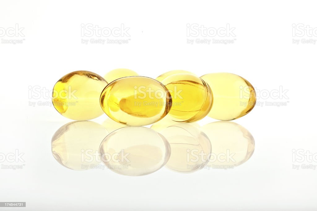Omega 3 Capsules royalty-free stock photo