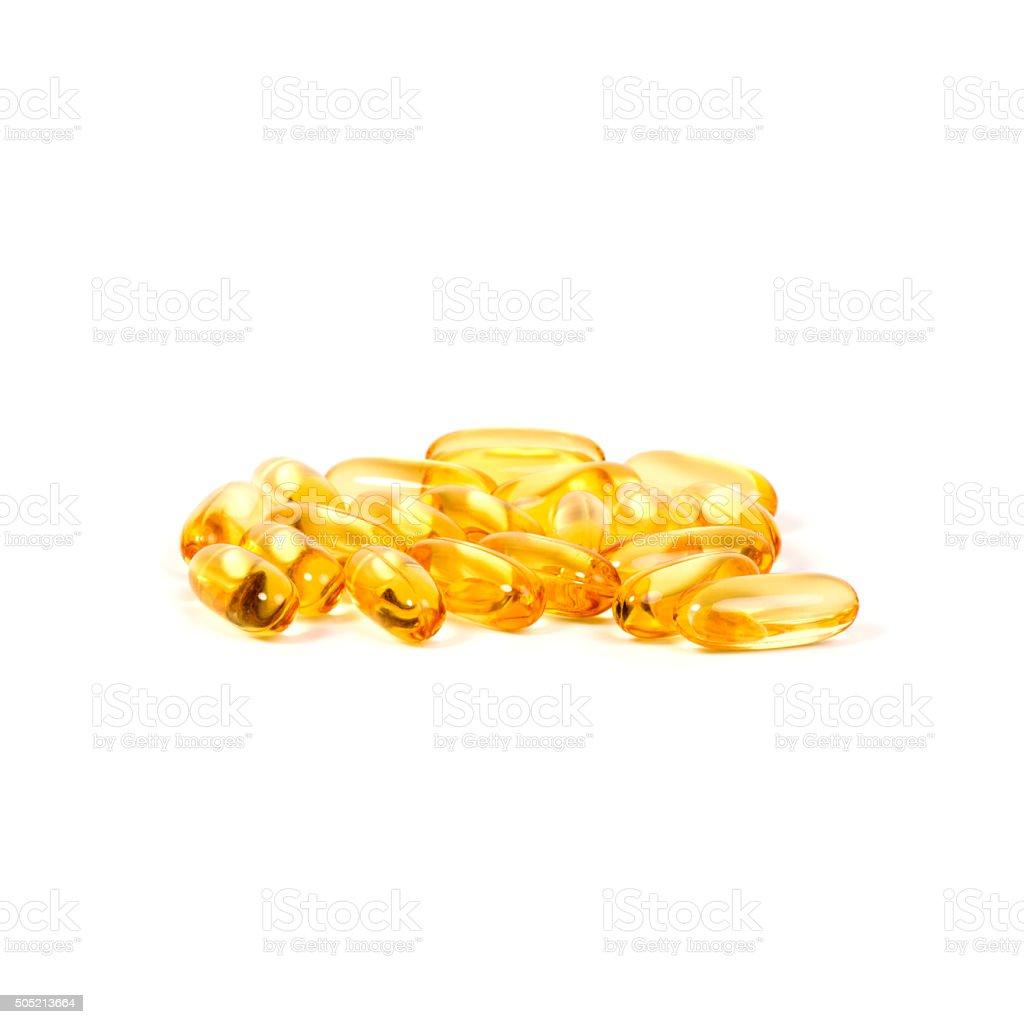 omega 3 capsules stock photo