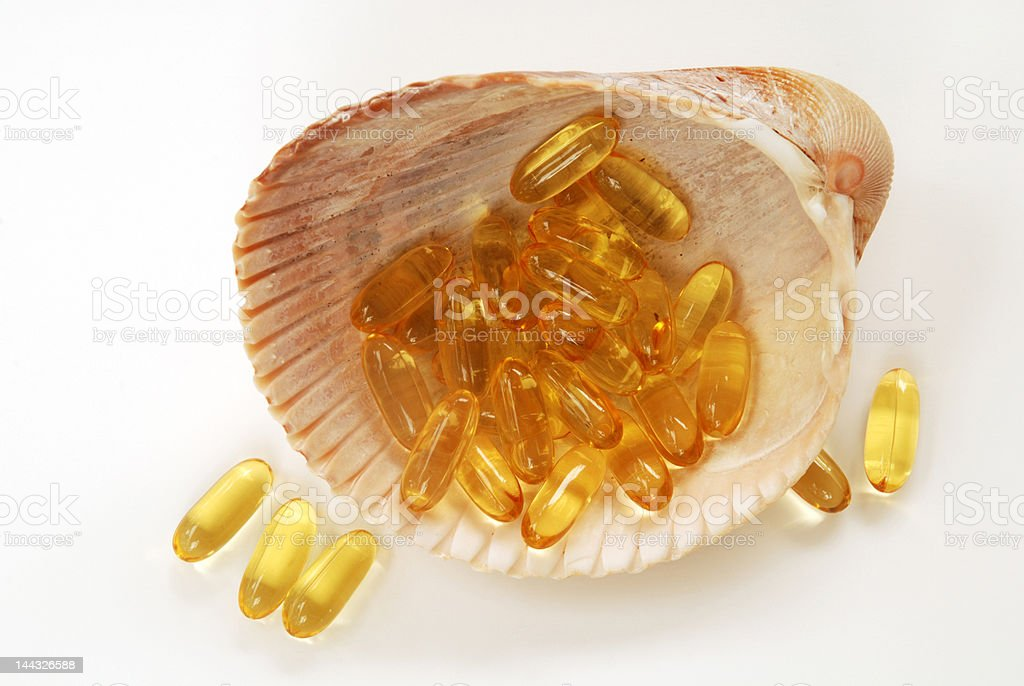 Omega 3 from the sea royalty-free stock photo