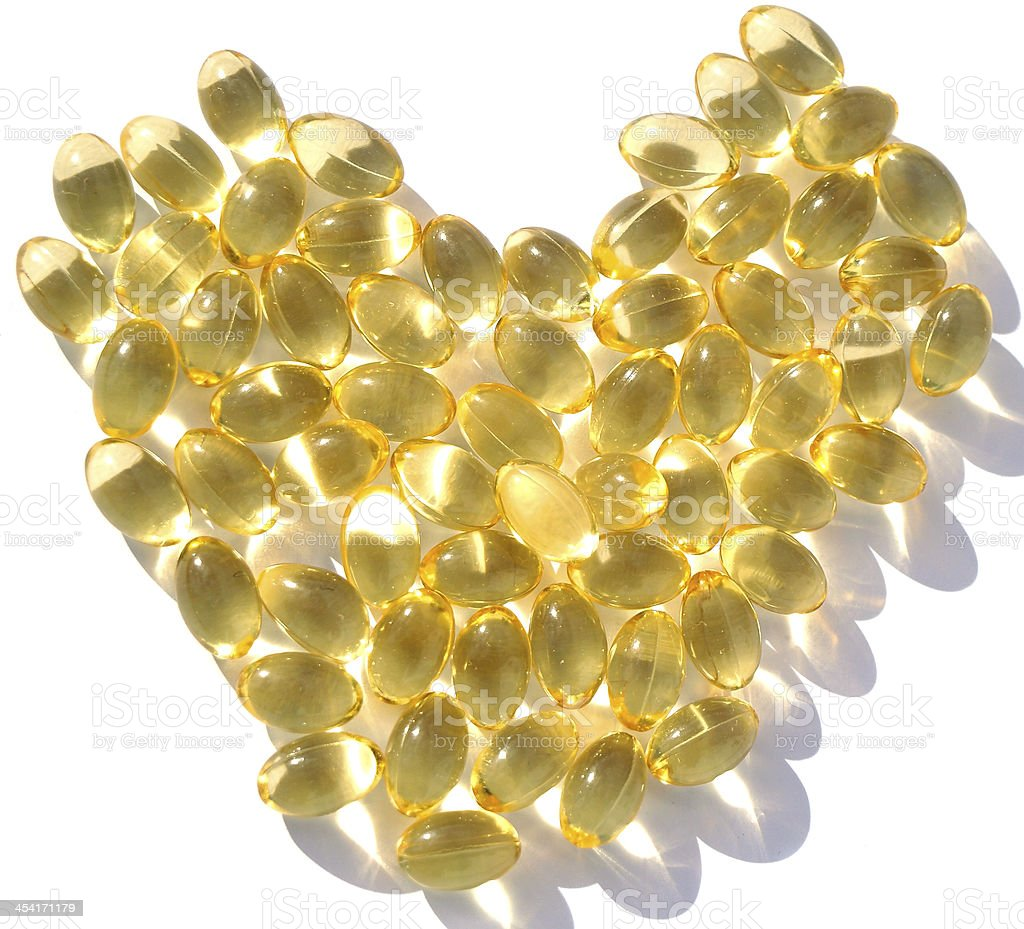 omega 3 gel capsules royalty-free stock photo