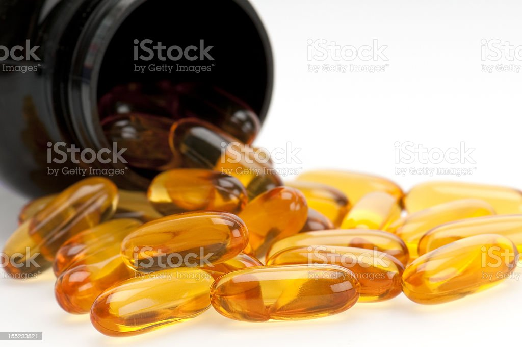 Omega 3 Supplement Pills royalty-free stock photo