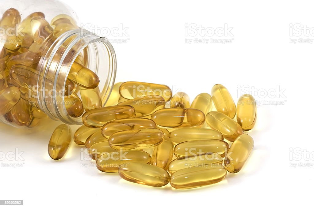 Omega Fish Oil royalty-free stock photo