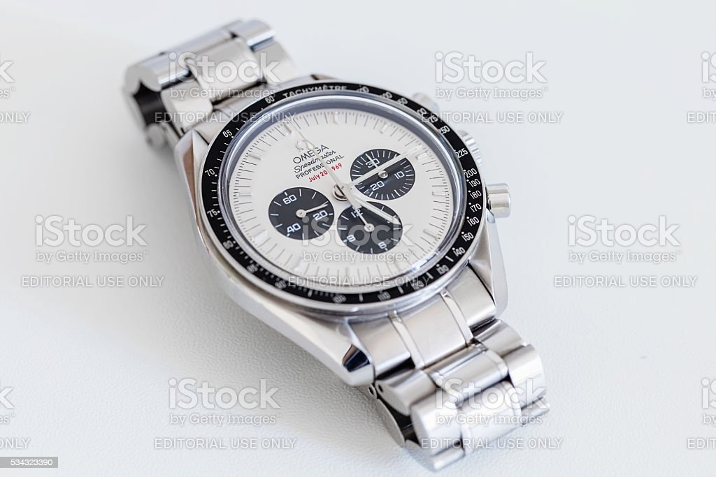Omega Speedmaster Professional SU 145.0227 Apollo XI Watch stock photo