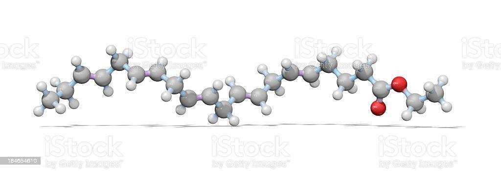 Omega-3 Essential Fatty Acid Model stock photo