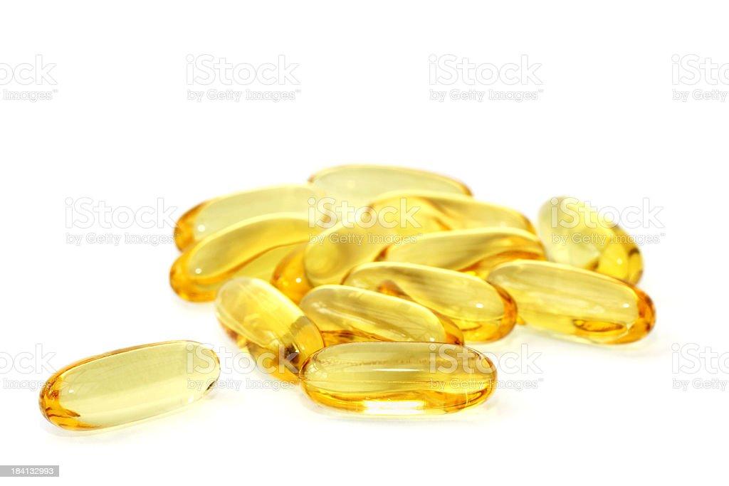 Omega-3 fish oil capsules royalty-free stock photo