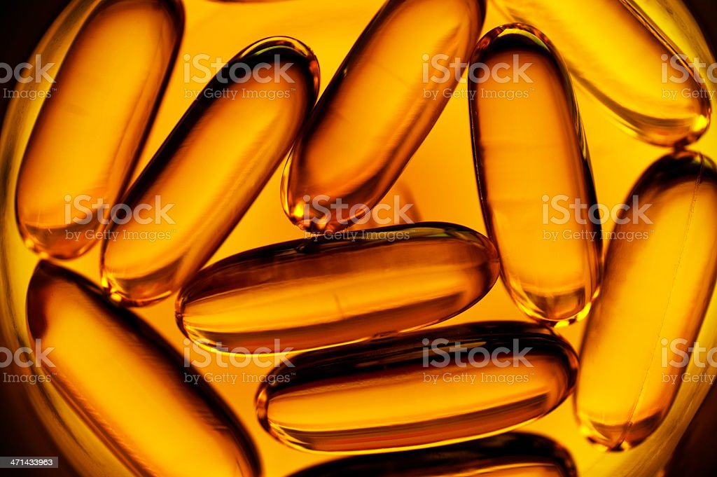 Omega3 softgels royalty-free stock photo