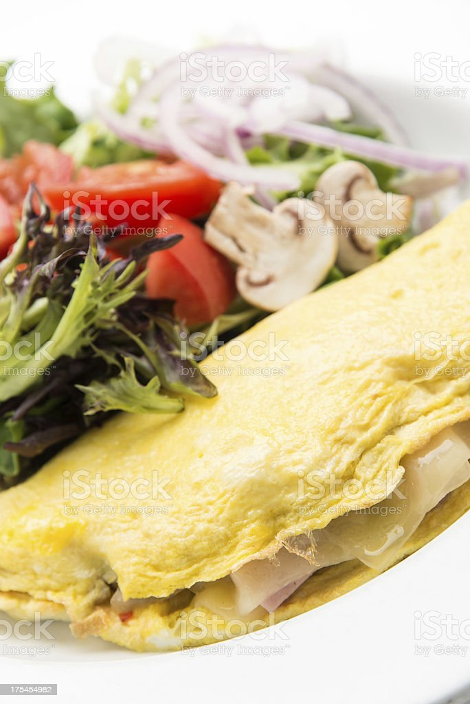 Omelet and Salad stock photo