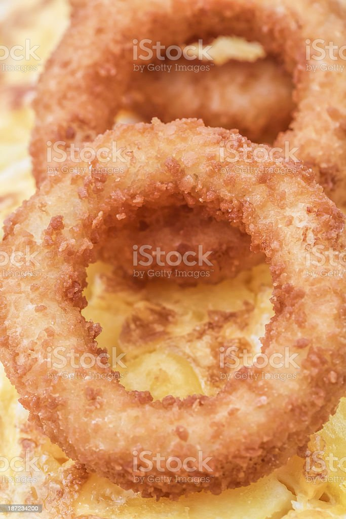 Omelet with Onion rings royalty-free stock photo