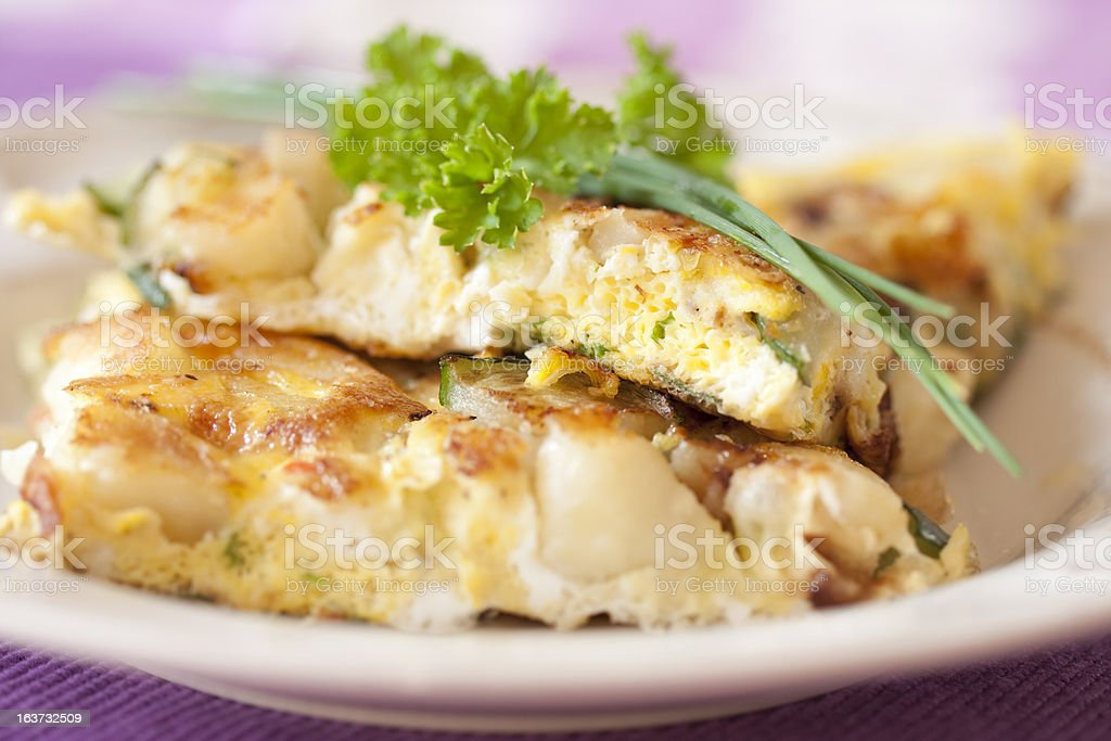 Frittata stock photo