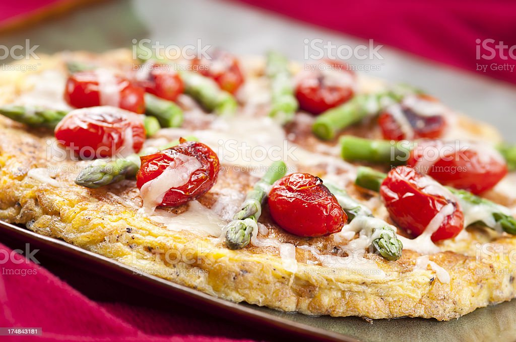 Frittata royalty-free stock photo