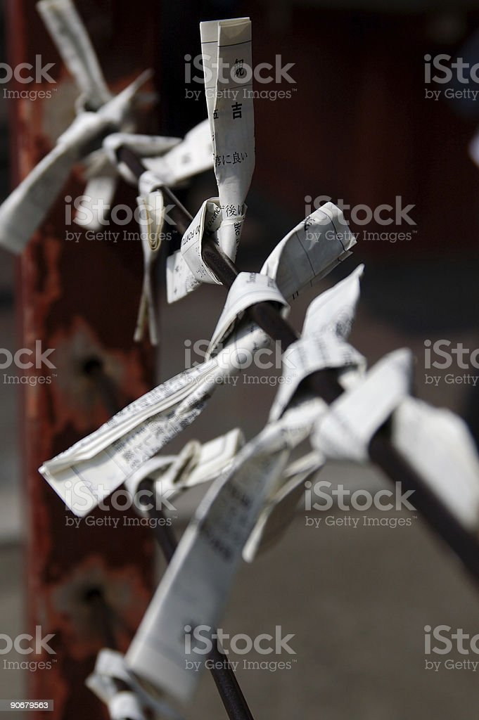 Omikuji charms royalty-free stock photo