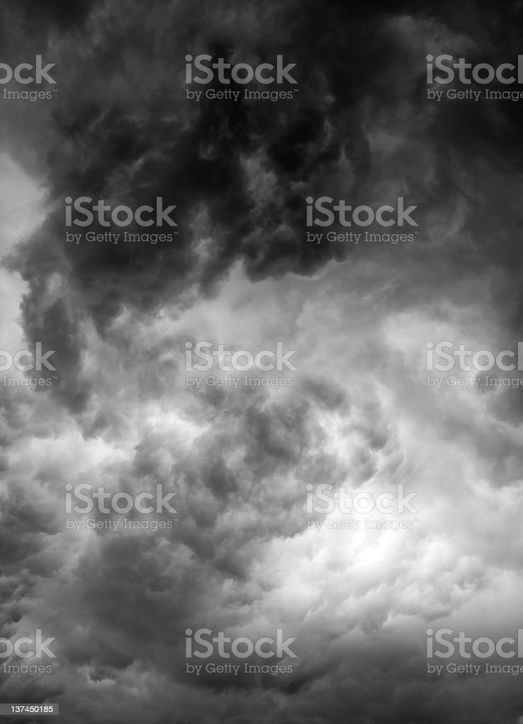 Ominous black clouds royalty-free stock photo