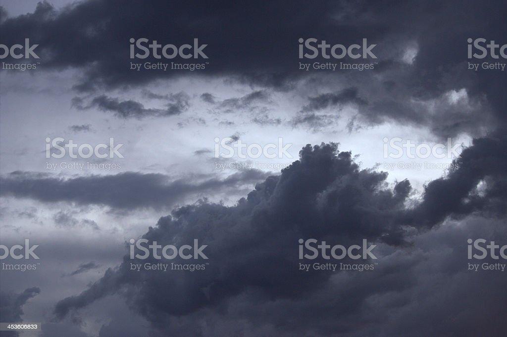 ?Ominous dark clouds royalty-free stock photo