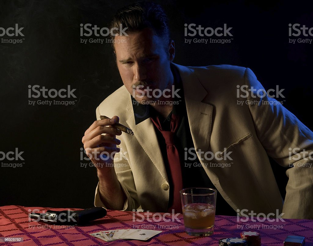 ominous look from gambler/gangster royalty-free stock photo