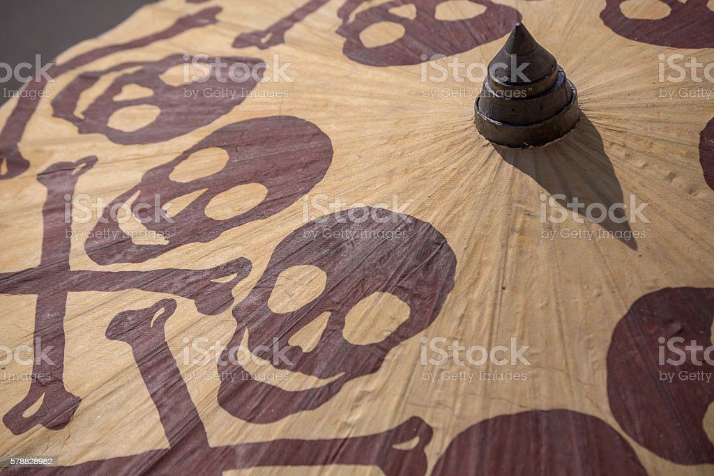 Ominous parasol stock photo