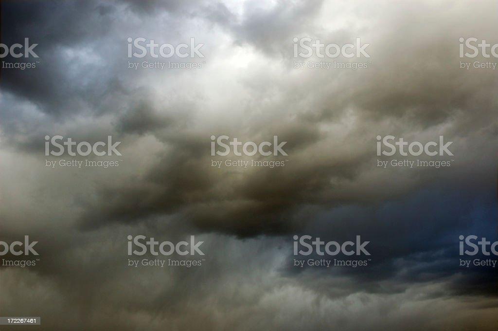 Dark moody clouds dominate the skies.