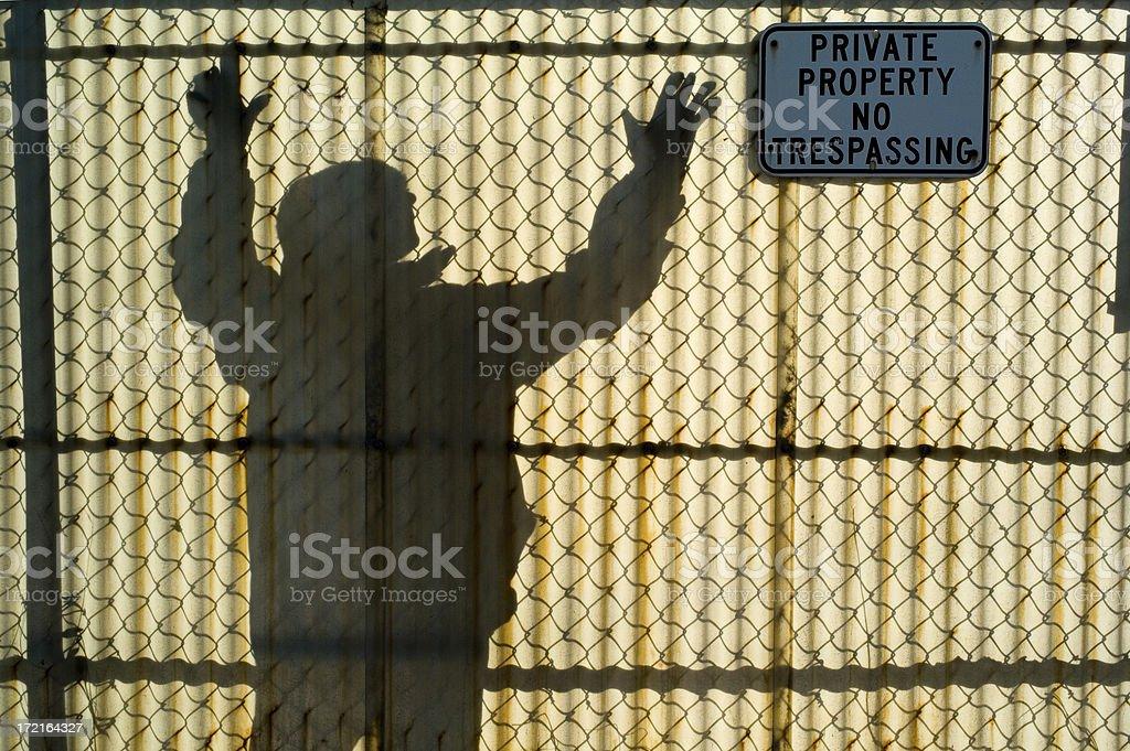 Ominous Tresspasser royalty-free stock photo