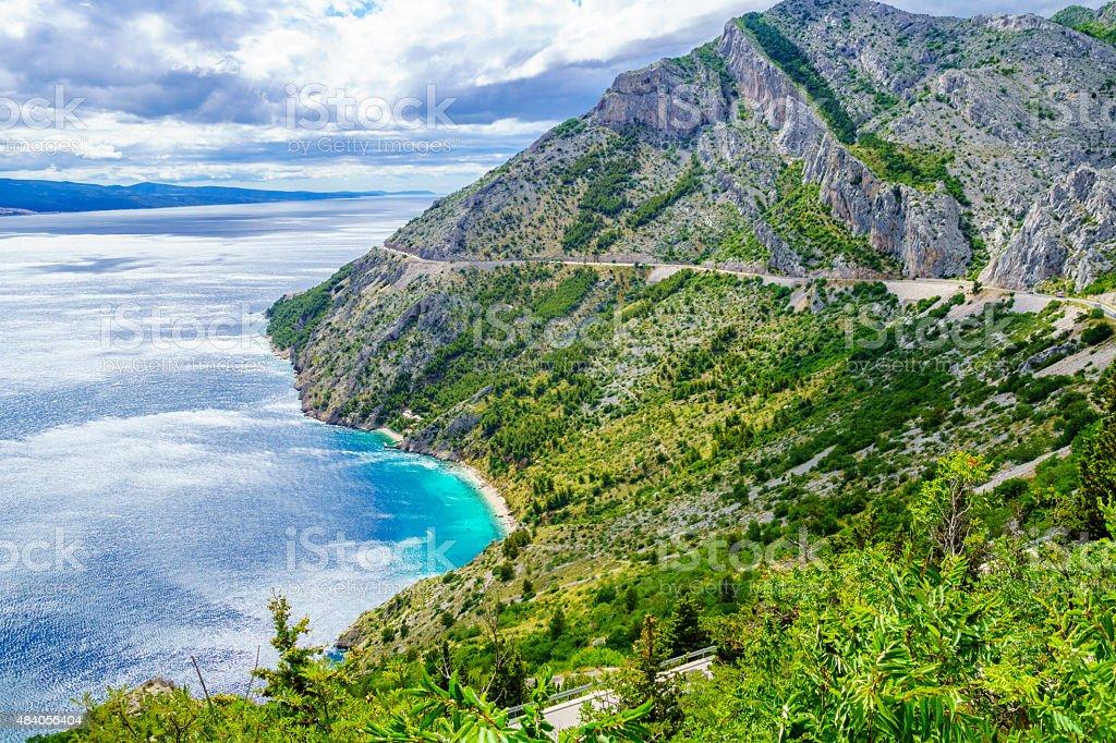 Omis and Makarska Riviera, Croatia stock photo