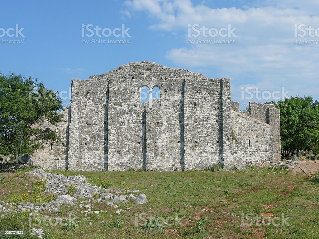 Omisalj ruins stock photo