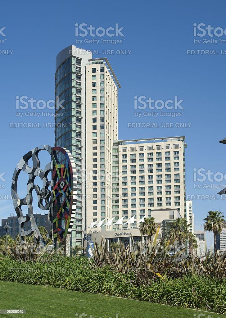 Omni Hotel in San Diego stock photo