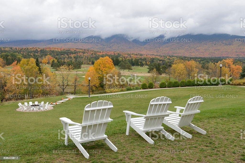 Omni Mount Washington Resort in New Hampshire stock photo