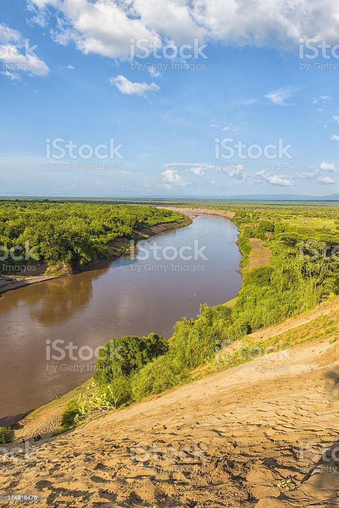Omo river royalty-free stock photo