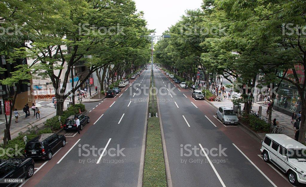 Omotesando street stock photo