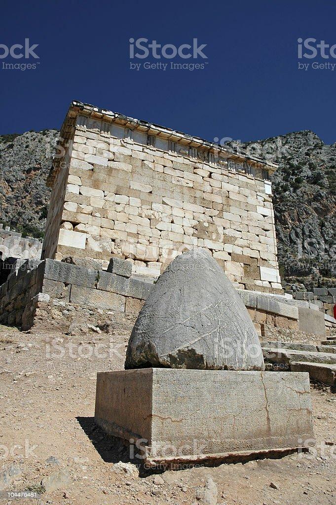 Omphalos in Delphi stock photo