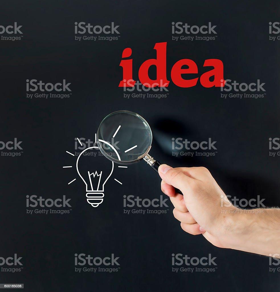 on a black board idea stock photo