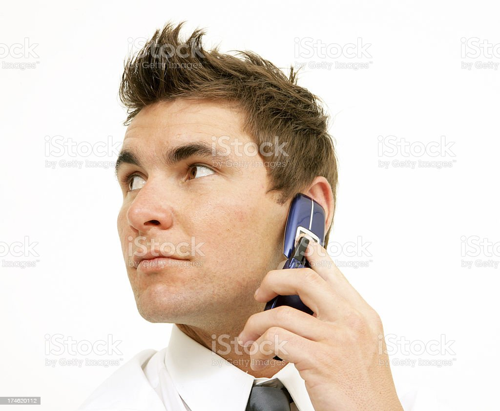 On a call royalty-free stock photo
