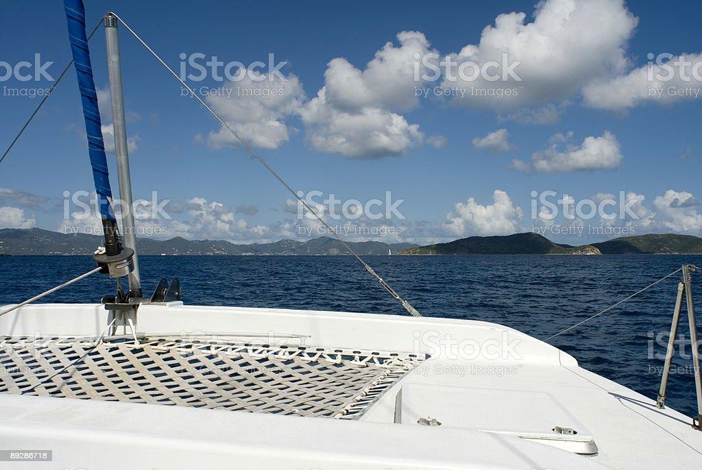 On a Catamaran royalty-free stock photo