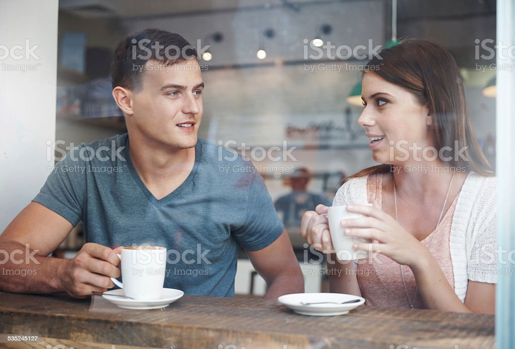 On a coffee date stock photo