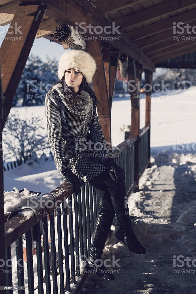 On A Cold Winter Day stock photo