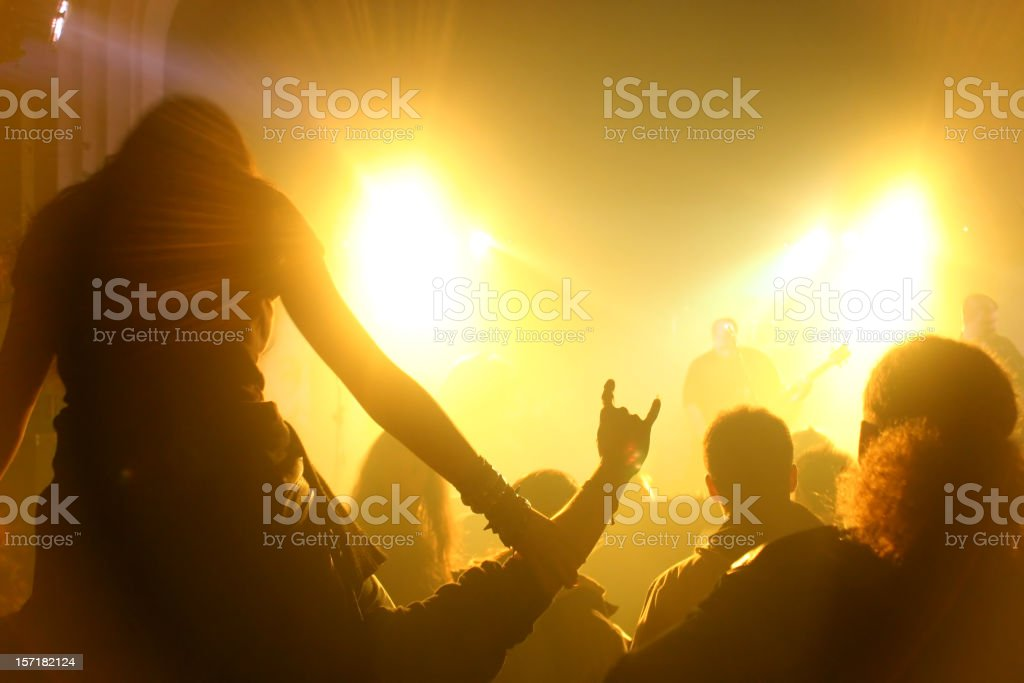 On a concert stock photo