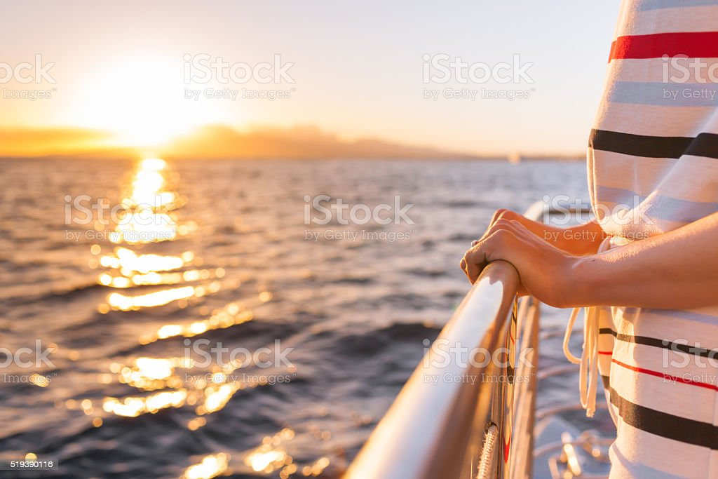 On a cruise stock photo