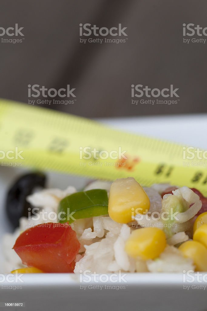 On a diet. Vertical image. royalty-free stock photo