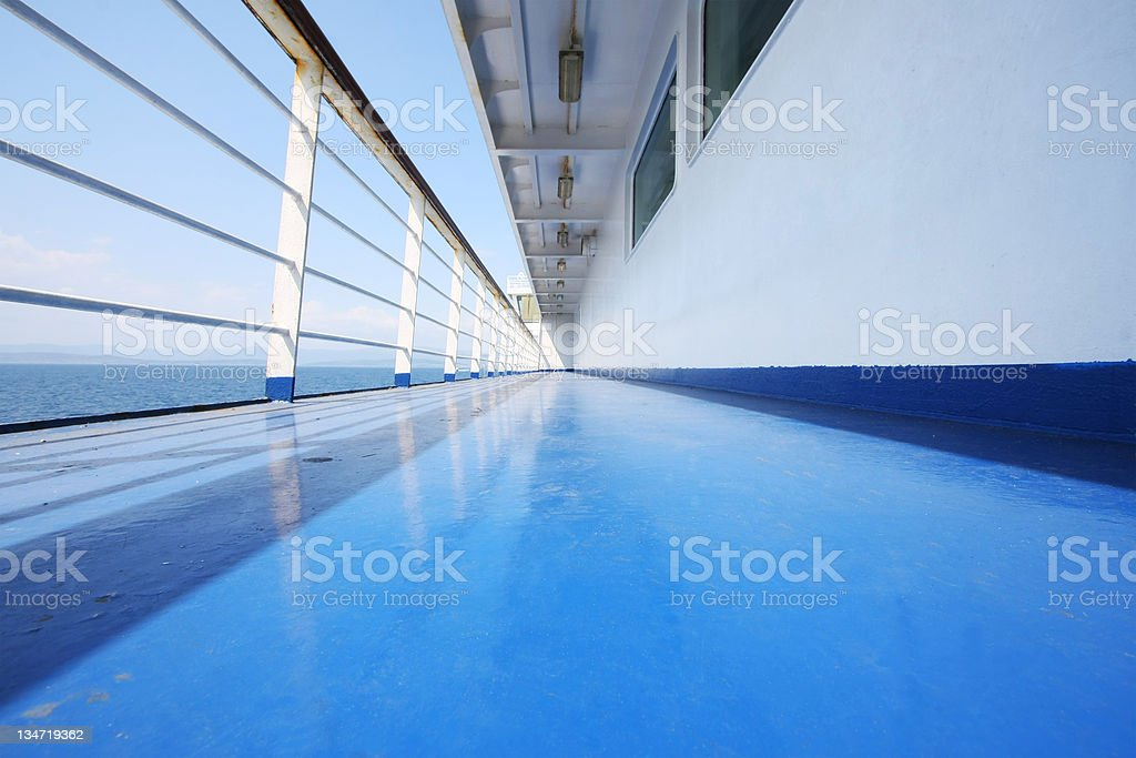 On a ferryboat stock photo