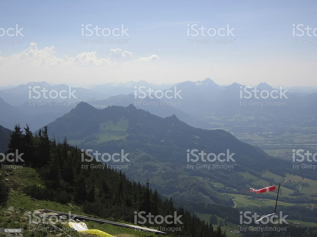 On a Hochries mountain in Alps royalty-free stock photo