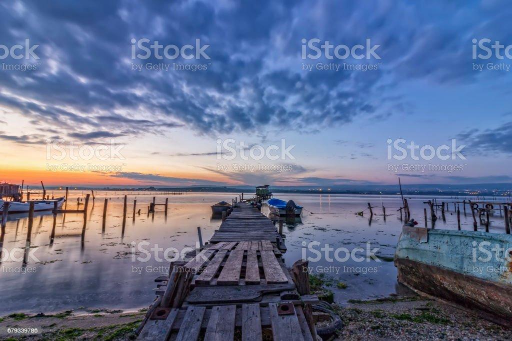 on a lake stock photo
