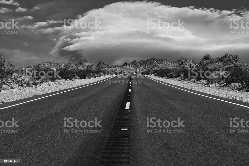 On a Lonely Lonesome Highway royalty-free stock photo